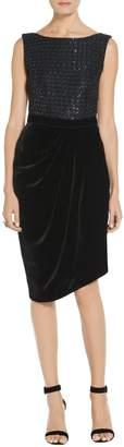 St. John Sprinkle Sequin Lattice Knit Dress