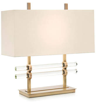 John-Richard Collection Glass Cylinder Table Lamp - Brass