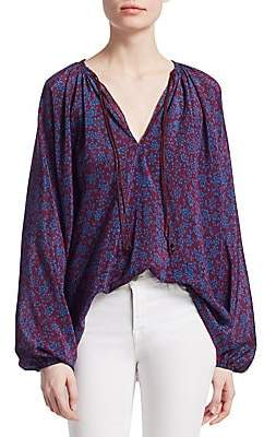 Elizabeth and James Women's Chance Long Sleeve Silk Blouse