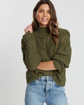 Cotton On Perry Pointelle Mock-Neck Knit
