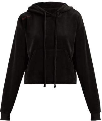 The Upside Hoya Velour Hooded Sweatshirt - Womens - Black