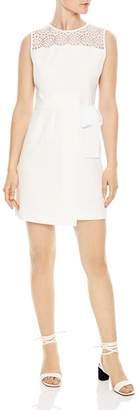 Sandro Justin Lace-Detail Mini Dress
