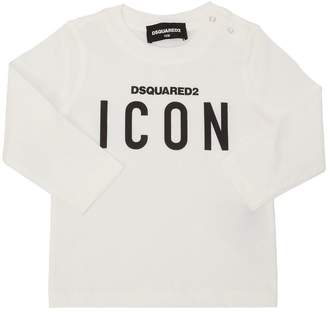 DSQUARED2 Icon Cotton Jersey Long Sleeve T-Shirt