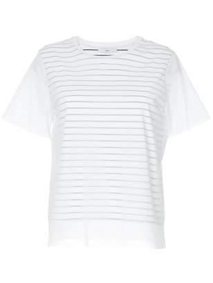 ASTRAET striped mesh T-shirt