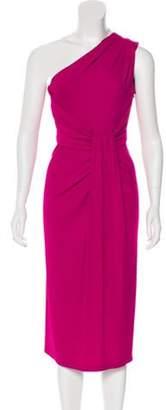 Michael Kors One-Shoulder Midi Dress One-Shoulder Midi Dress