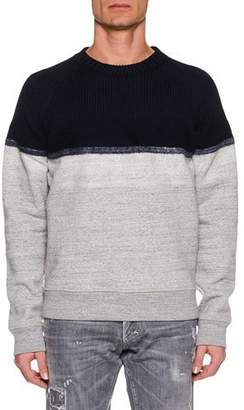DSQUARED2 Men's Colorblock Wool-Yoke Sweater
