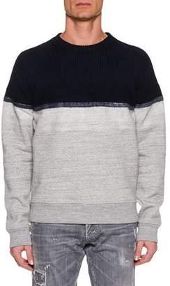 DSQUARED2 Men's Colorblock Wool-Yoke Sweater