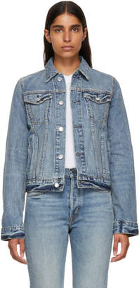 Helmut Lang Blue Square Shoulder Denim Jacket