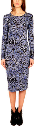 Derek Lam 10 Crosby Peri Printed Long Sleeve Dress