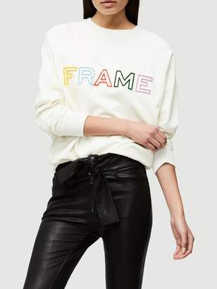 Frame Denim Raglan Sweatshirt OFF White Size XS