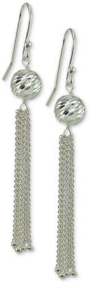 Giani Bernini Textured Ball Chain Drop Earrings in Sterling Silver, Created for Macy's