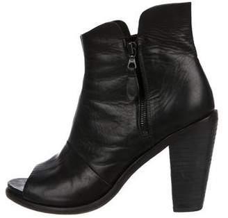 Rag & Bone Leather Peep-Toe Boots