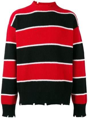 MSGM striped knit sweater