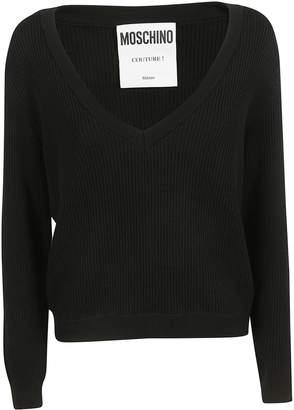 Moschino Layered Ribbed Knit Sweater