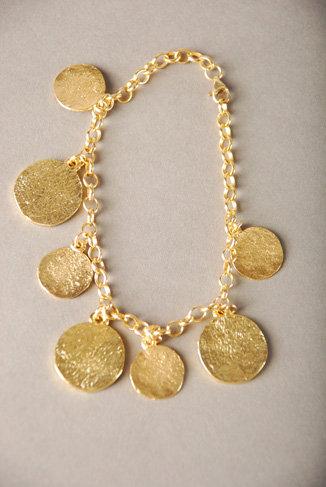 Katie Costello Hammered Coins Bracelet