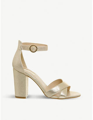 Office Holborn metallic cross-strap heeled sandals
