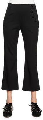 Proenza Schouler Flare-Leg Cropped Pants, Black $1,150 thestylecure.com