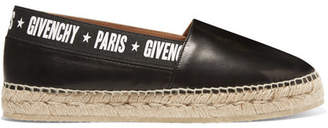 Givenchy Capri Logo-print Leather Espadrilles - Black