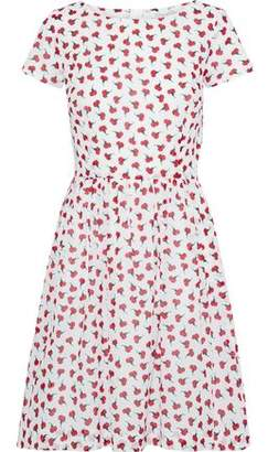 Oscar de la Renta Flared Checked Cotton-seersucker Mini Dress
