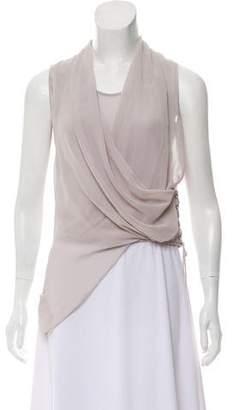 AllSaints Asymmetrical Sleeveless Top
