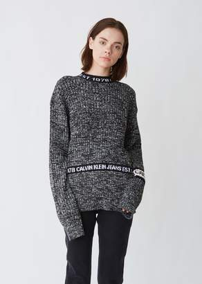 Calvin Klein Jeans Est. 1978 Unisex Melange Crewneck Sweater