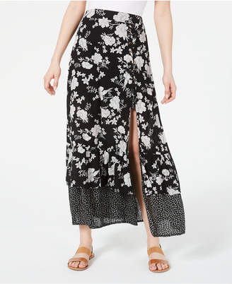 American Rag Juniors' Printed Tiered Maxi Skirt