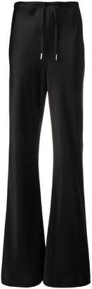 Alexander Wang black flared track pants