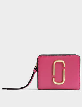 Marc Jacobs Snapshot Mini Compact Wallet in Hibiscus Split Cow Leather