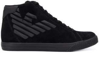 Emporio Armani Ea7 logo hi-top sneakers