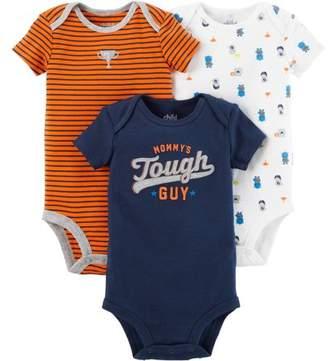 Carter's Child Of Mine By Short Sleeve Bodysuits, 3pk (Baby Boys)