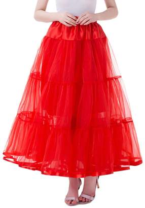 Tsygirls Women's Long Wedding Gown Petticoat Slips Underskirt for Formal Dress