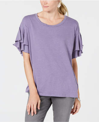Style&Co. Style & Co. Ruffle-Sleeved Top, Created for Macy's