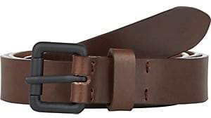 Barneys New York Men's Leather Belt-Dk. brown