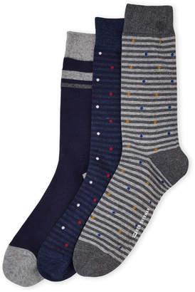 Ben Sherman 3-Pack Dot on Stripe Crew Socks