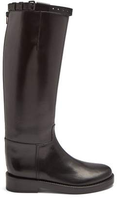Ann Demeulemeester Knee High Leather Riding Boots - Womens - Black