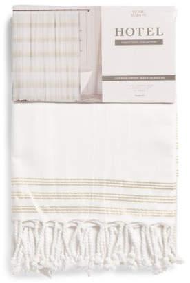 At TJ Maxx Woven Metallic Stripe Shower Curtain