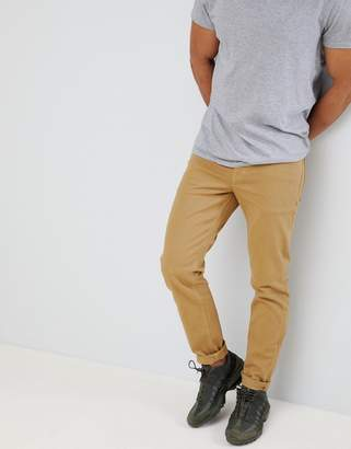 Asos DESIGN slim jeans in stone
