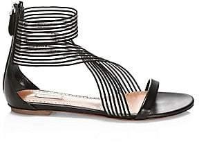 Alaia Women's Elastic Crisscross Flat Sandals