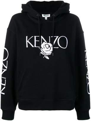 Kenzo Floral logo hoodie