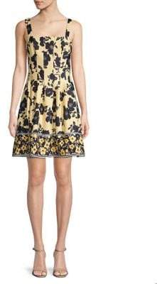 Vince Camuto Floral Fit Flare Dress