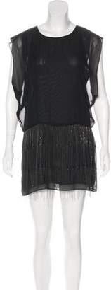 Karen Zambos Embellished Silk Dress