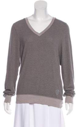 Wildfox Couture Long Sleeve V-Neck Top