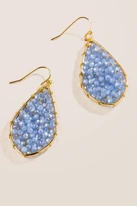 francesca's Lexis Woven Beaded Drop Earrings - Periwinkle