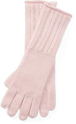 Ralph Lauren Wool-Blend Herringbone Gloves