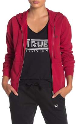 True Religion Logo Zip Up Hoodie