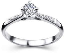 JeenJewels 1/2 Carat Diamond Ring on 10k White Gold