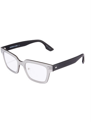 McQ Alexander McQueen Two-Tone Rectangle Optical Glasses $79 thestylecure.com