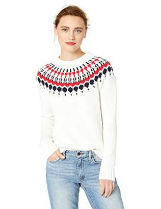 J.Crew Mercantile Women's Fair Isle Crewneck Sweater,S