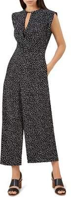 Hobbs London Camila Polka Dot Wide-Leg Jumpsuit