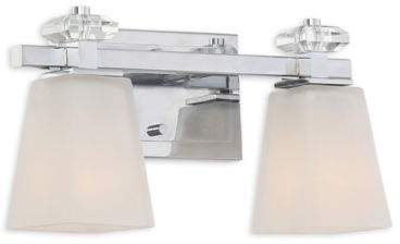 Quoizel Supreme 2-Light Bathroom Wall Sconce in Polished Chrome